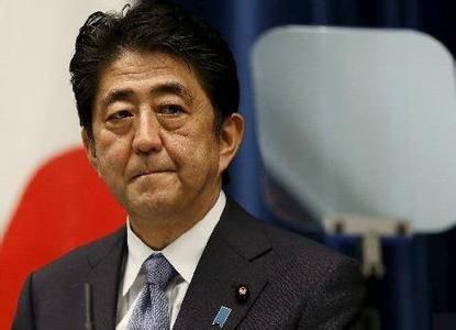 日本首相安培专机回国途中撞鸟