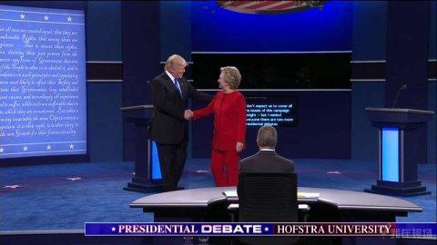 美国大选首场辩论